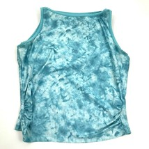 Columbia TITANIUM Women's Tank Top Size M Blue Marble Sleeveless Ruched ... - $18.99
