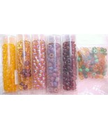 6 Pack Lot Asst Brown Czech Glass 6/0 Seed Beads Mix Bead Kit Round Spac... - $10.12