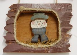 MEI Welcome Snowflake Snowman Wooden Rustic Hanging Sign image 3