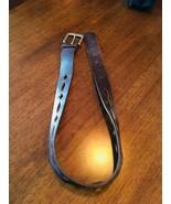 HIPWEAR Brown Medium Italian Leather Belt Cutout Diamonds Made in Canada... - $5.89