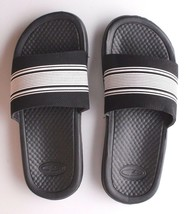 NEW C9 YOUTH CUSHION LITE BLACK/WHITE SLIP ON SANDALS SIZE L 4/5 image 1