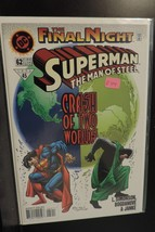 #62 Superrman The Man of Steel The Final Night 1996 DC Comic Book D714 - $3.36