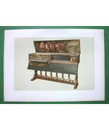 VIRGINAL or Double Spinet - SUPERB Color Litho Print - $26.01