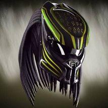 New Predator Motorcycle Helmet Motive Lava Green (Dot & Ece Certified) - $250.00
