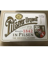 "PILSNER URQUELL BEER Retro Style Metal ""Construction Worker""  LUNCH BOX-... - $11.87"