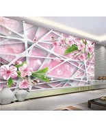 3D Mega Romantic Flowers Lines204 Wall Paper Wall Print Decal Wall AJ Wa... - $30.68+