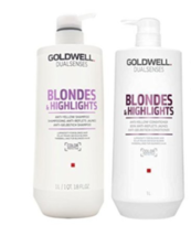 Goldwell Dual Senses Blondes and Highlights Conditioner and Shampoo Liter Duo - $54.99
