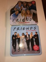 Friends Set Of Two Trivia Board Games Collectors Edition Tin Box 2002 Cardinal - $40.09