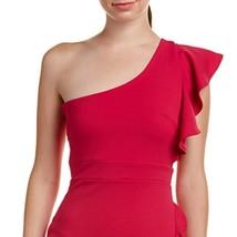 Just Me Women Fuchsia Ruffle One-Shoulder Social Dress image 3