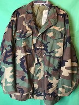 US Army Woodland Camouflage Cold Weather Coat Field Jacket Men's Medium ... - $41.14