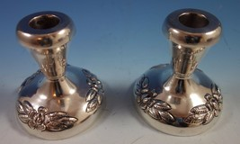 Aztec Rose by Maciel Mexican Sterling Silver Candlestick Pair #0162-13 (#1864) - $503.60