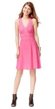 INC International Concepts Sleeveless Pink Ribbed Knit Sweater A-line Dr... - $39.99