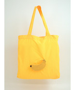 Bey Berk Yellow Banana Re-usable Foldable Bag  Leather/Nylon shopping bag - $14.95
