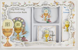First Communion Gift Set with Prayer Mass Book, Rosary, and Bookmark - $40.62