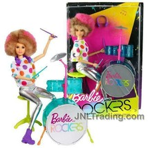 """NEW 2017 Barbie & The Rockers 12"""" Doll Caucasian Afro Hairstyle DRUMMER+... - $49.99"""