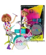 """NEW 2017 Barbie & The Rockers 12"""" Doll Caucasian Afro Hairstyle DRUMMER+... - $39.99"""