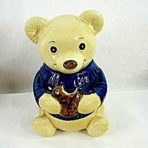 """Metlox Teddy Bear Cookie Jar California Pottery 11.5"""" Vintage - $59.39"""