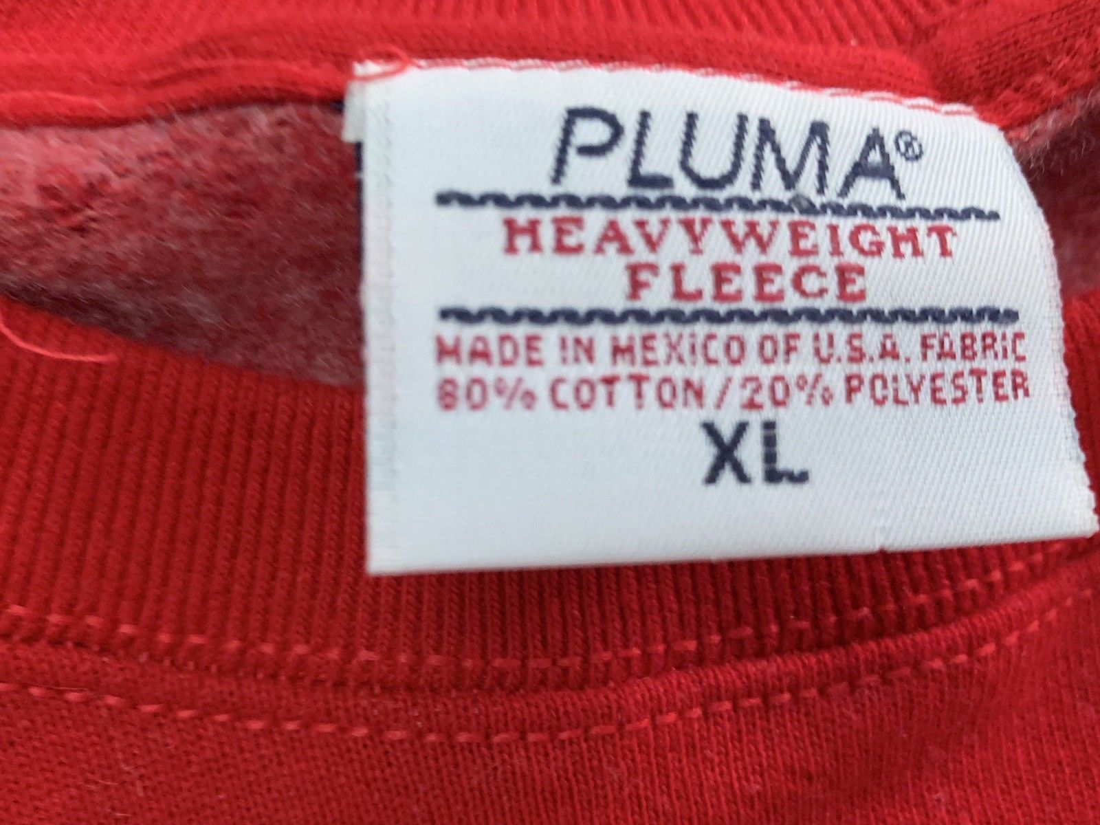 90s Red Pluma Russell Athletic Crewneck Sweatshirt Size XL Mint 90s