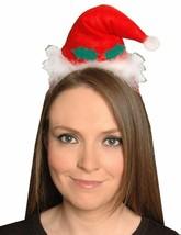 Womens Christmas Mini Santa Headband Cap Ladies Xmas Pompom Novelty Fancy Hat - $1.96