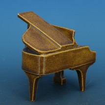 Vintage Porcelain Dollhouse Miniature Grand Piano Good Casting - No Bench image 2