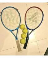 2 pcs tennis racquet Prince and Prokennex + 4 tennis balls. - $43.65