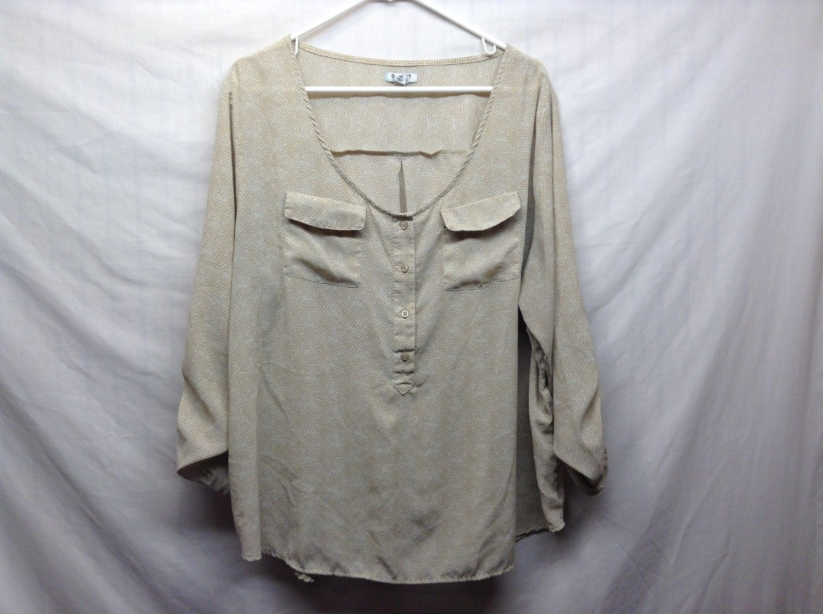 OLD NAVY Cream Beige Scoop Neck Blouse Sz XXL