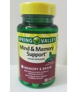 Spring Valley Mind & Memory Brain Support Supplement 30 Tablets Exp 2/2022 - $11.87