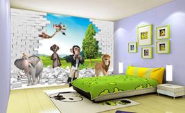 3D Fünf nette Tiere 255 Fototapeten Wandbild Fototapete BildTapete Familie - $52.21+