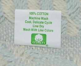 Split P Brand 85180 Light Blue White Sea Twill Weave Tasseled Throw Blanket image 3