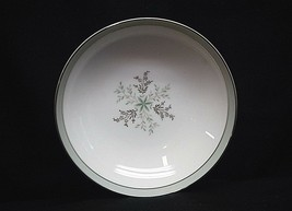 Noritake China Lucille 5813 Fruit Dessert Bowl Gray Green Band Flowers J... - $8.90