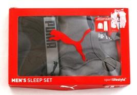 Puma Gray & Black Long Sleeve Thermal & Knit Pant Sleepwear Set Men's Ne... - $37.49