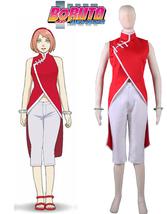 Naruto Haruno Sakura Cheongsam Cosplay Costume Anime Women Halloween Uniform - $62.00