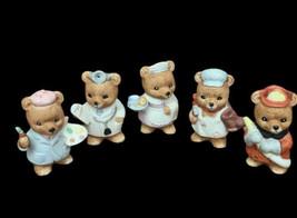 Homeco Bear Figurines Doctor Nurse Firefighter Cobbler Artist First Resp... - $12.86