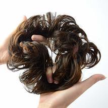 Abujia Messy Bun Hair Piece Hair Bun Extension Wavy Curly Messy Donut Hair Updo  image 3