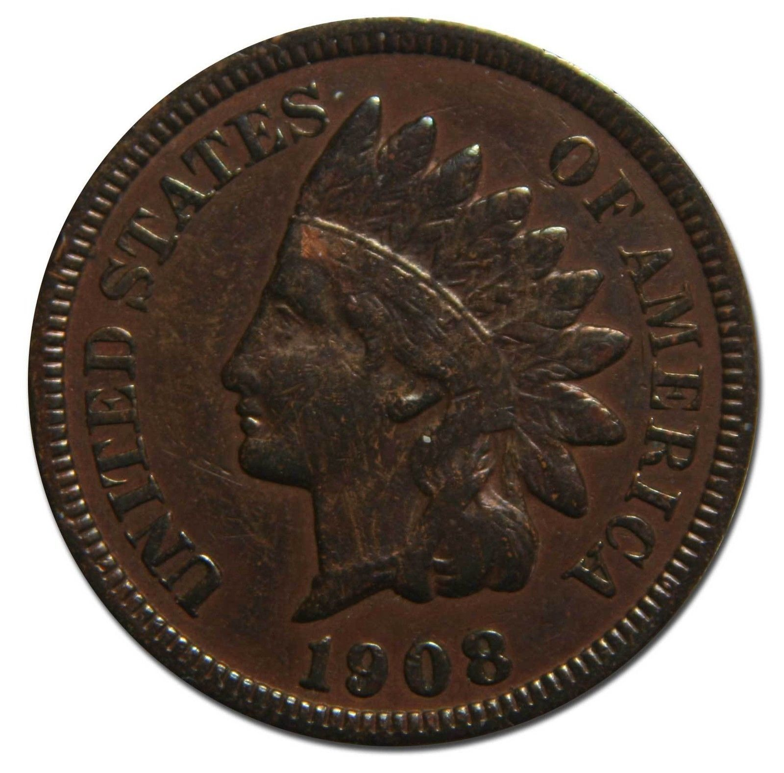 1908S Indian Head Penny / Cent Coin Lot# A 2207