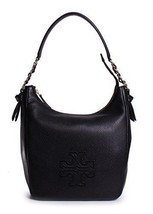 Tory Burch Women's Harper Zip Hobo Bag, Black, One Size - $425.00