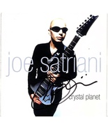 JOE SATRIANI AUTOGRAPHED HAND SIGNED CD COVER BOOKLET w/COA CRYSTAL PLAN... - $49.99
