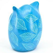 Tabaka Chigware Hand Carved Kisii Soapstone Sky Blue Owl Figurine Handmade Kenya image 3