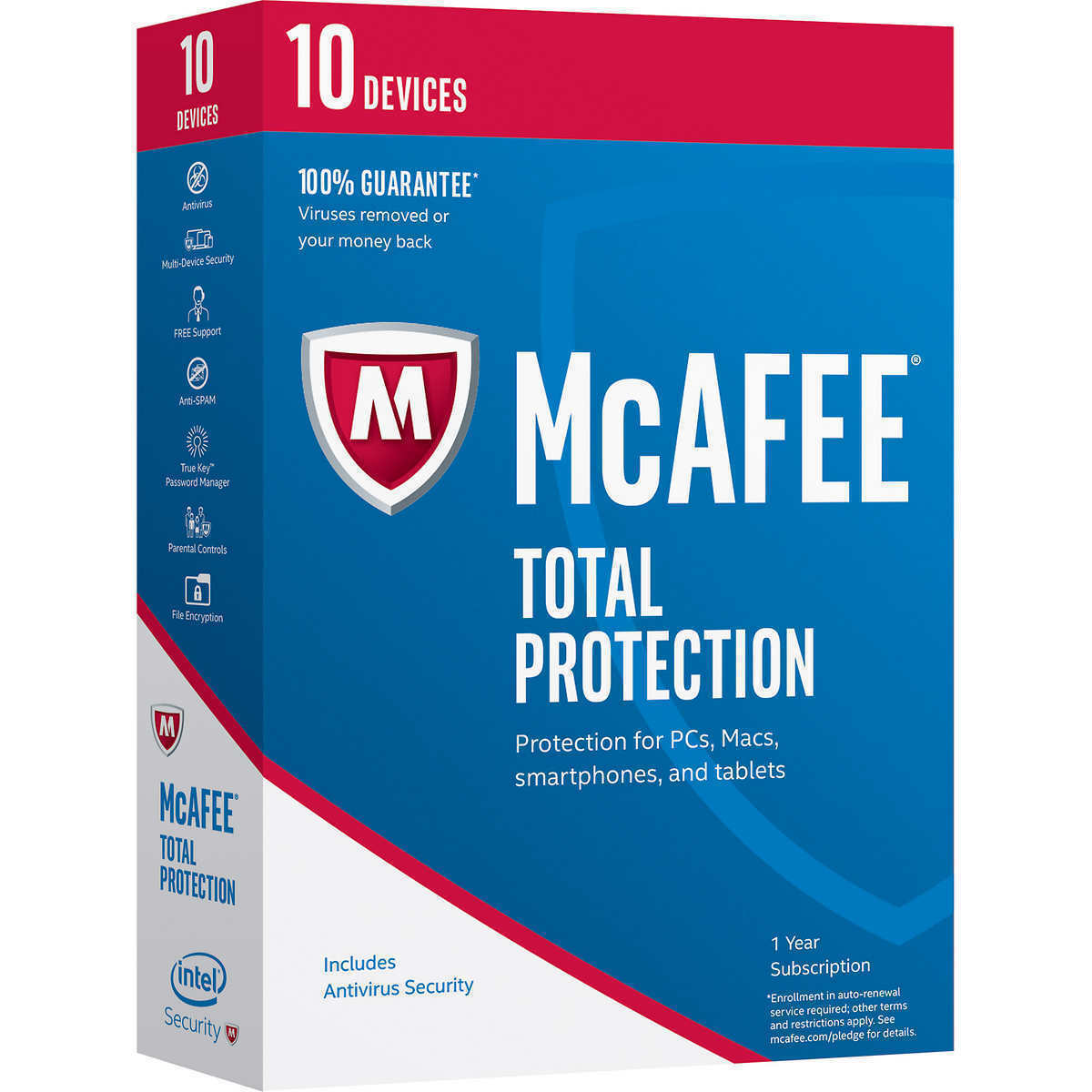 Original Retail-sealed Box - McAfee Total Protection 2017(2018) - 10 Device 1 Yr - $16.82