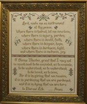 Prayer of St Francis religious cross stitch chart Stitches Through Time  - $12.60