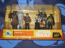 Disney Han Solo A STAR WARS STORY FIGURE PLAYSET 6 PIECES Cake Topper Ne... - $19.79