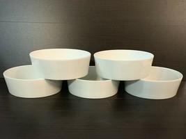 "Block Spal Lisboa White Bowls 5 3/4"" Made In Portugal Set of 5 Minimalis... - $69.30"