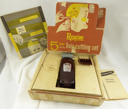 VINTAGE MCM~1950-60's~RAYCINE~ HAIRCUTTING SET~CLIPPERS~ MILWAUKEE,WIS. ... - $19.79