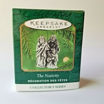 Hallmark Keepsake Miniature Ornament 3rd in The NATIVITY Pewter 2000 Series - $9.89