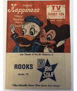 Martin TN Tennessee Rare TV Schedule Family Fun Booklet Rook Big Star Store - $46.74