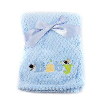 Baby girl or boy MY BABY applique blanket sports, butterfly B339 - $9.99