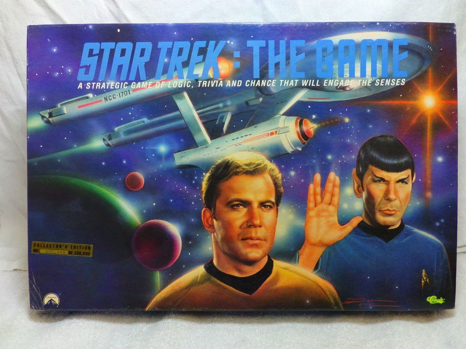 Star Trek The Game 1992 Collectors Edition Classic Trivia 33,448 of 200,000 NIB