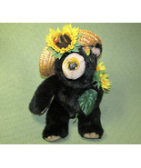 "15"" VINTAGE ORZEK HONEY BEAR PLUSH STUFFED TEDDY BEES  SUNFLOWER STRAW H... - $27.72"
