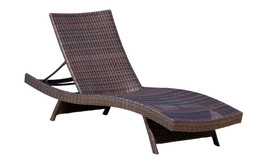 Lakeport Outdoor Adjustable Chaise Lounge Chair (Set of 2) - Brown - $399.99
