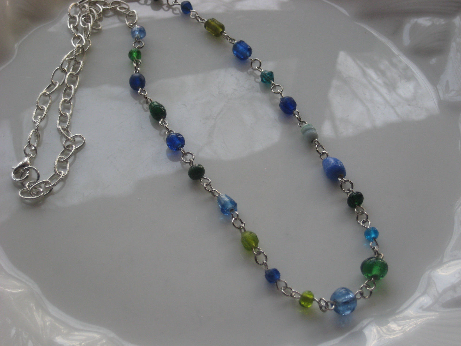 handmade glass beaded necklace #3
